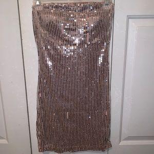 Dresses & Skirts - Pink sequins tube top dress